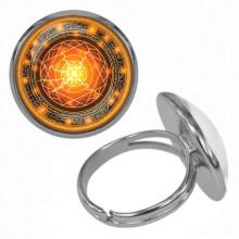 KLB014 Кольцо Магическая печать безразмерное