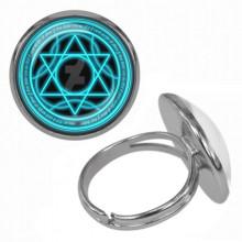 KLB018 Кольцо Магическая печать безразмерное