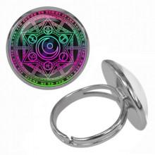 KLB019 Кольцо Магическая печать безразмерное