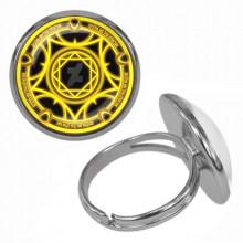 KLB020 Кольцо Магическая печать безразмерное