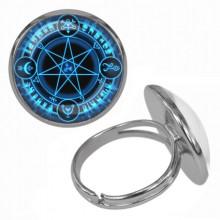 KLB022 Кольцо Звезда Магов безразмерное