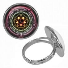 KLB024 Кольцо Магическая печать безразмерное
