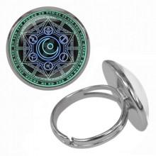 KLB025 Кольцо Магическая печать безразмерное