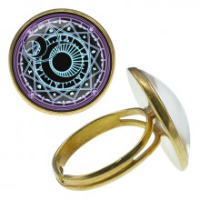 KLB026 Кольцо Магическая печать безразмерное