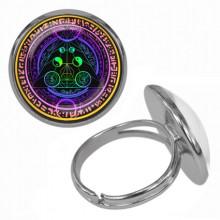 KLB029 Кольцо Магическая печать безразмерное