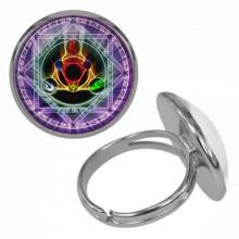 KLB031 Кольцо Магическая печать безразмерное
