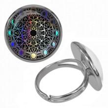 KLB034 Кольцо Магическая печать безразмерное