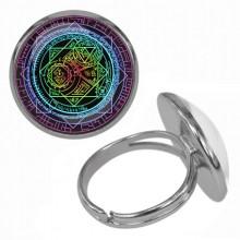 KLB037 Кольцо Магическая печать безразмерное
