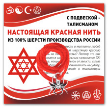 KN314 Красная нить Паук (защита, трудолюбие, достаток)
