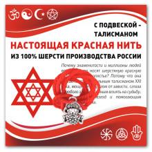 KN323 Красная нить Лягушка с монетой (богатство)