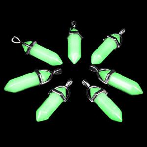 LGK009 Светящийся кулон - маятник из нефрита