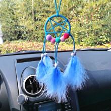 LS012-1 Подвеска Ловец снов, 35х7см, цвет голубой