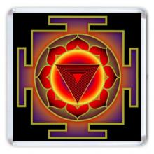 MA008 Магнит Трипура-Бхайрави янтра 6,5х6,5см, акрил