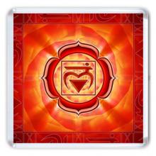 MA011 Магнит Муладхара чакра 6,5х6,5см, акрил