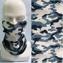 MASF-077 Шарф-маска Камуфляж, цвет бело-голубой