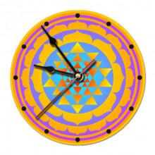MCH028 Часы настенные Шри-янтра 20см, пластик