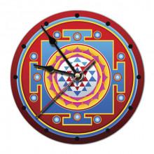 MCH029 Часы настенные Шри-янтра 20см, пластик