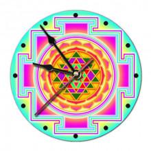 MCH030 Часы настенные Шри-янтра 20см, пластик