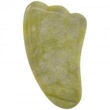 MJCH017-1 Массажёр-скребок Гуаша, нефрит, 9х5см