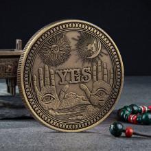 MN001-B Монета сувенирная YES - NO 40х3мм, цвет бронз.