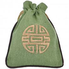 MS023-02 Мешочек со знаком Шоу 12х14,5см, хлопок, цвет зелёный