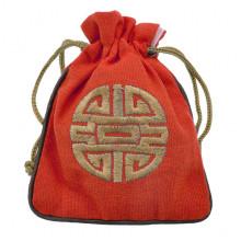 MS023-03 Мешочек со знаком Шоу 12х14,5см, хлопок, цвет красный