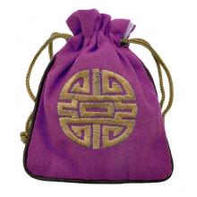MS023-06 Мешочек со знаком Шоу 12х14,5см, хлопок, цвет фиолетовый