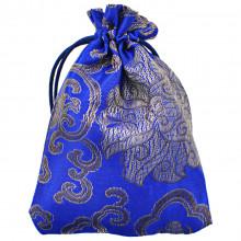 MS025-3 Мешочек из парчи 10х13см, цвет синий