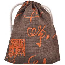 MS037-3 Льняной мешочек 10х13см, цвет коричневый