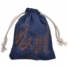 MS038-2 Льняной мешочек 8х10см, цвет тёмно-синий