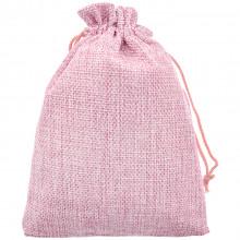 MS054-13x18 Мешочек из джута 13х18см, цвет розовый