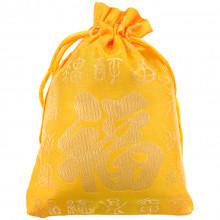 MS060-2 Мешочек из парчи 10х13см, цвет жёлтый