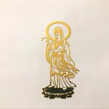 NK012 Наклейка - талисман Гуаньинь, 7,5х3,5см