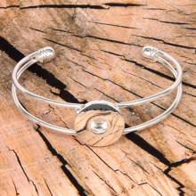 NSB-011-S Браслет-основа, металл, цвет серебр.