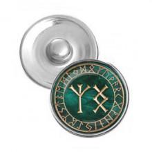 NSK031 Кнопка 18,5мм Процветание и защита