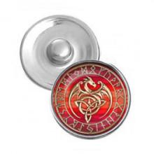 NSK032 Кнопка 18,5мм Кельтский дракон