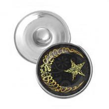 NSK089 Кнопка 18,5мм Полумесяц и звезда