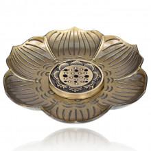 PBK015-B Подставка для благовоний Лотос, цвет бронзовый