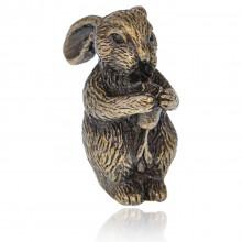 PBK018-09 Подставка для благовоний Восточный гороскоп - Кролик, бронза