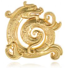 PBK043-G Подставка для благовоний Дракон, цвет золотой