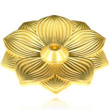 PBK047 Подставка для благовоний Лотос, цвет золотой