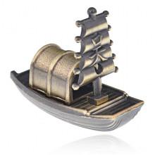 PBK050 Подставка для благовоний Лодка, цвет бронзовый