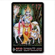RF055 Защитная RFID-карта Кришна, металл