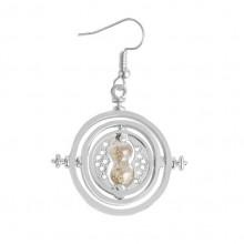 SE083-S Серьга (1 шт.) Песочные часы 3,5х3,5см, цвет серебр.
