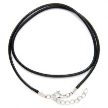 SH001 Классический шнурок для амулета с застёжкой, цвет чёрный