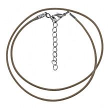 SH001-DB Классический шнурок для амулета с застёжкой, цвет тёмно-коричневый