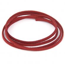 SHZ1048 Замшевый шнурок для амулета, цвет тёмно-красный