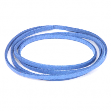 SHZ1079 Замшевый шнурок для амулета, цвет тёмно-голубой
