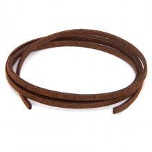 SHZ1094 Замшевый шнурок для амулета, цвет каштановый