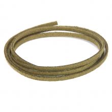 SHZ1137 Замшевый шнурок для амулета, цвет зелёный хаки